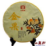 金果-1601普洱茶,2016年大益普洱金果普洱茶,熟茶